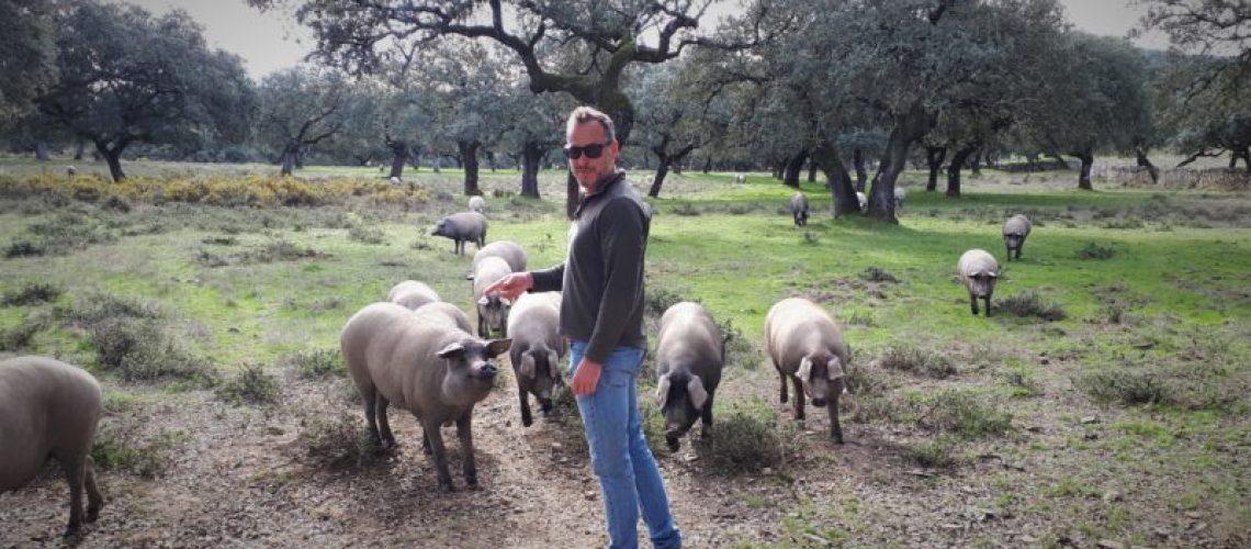 Jan Hendrik bezocht een boerenfamilie in Zuid-Spanje